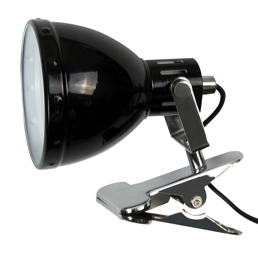 Retro Style Brushed Chrome Metal Domed Adjustable Single Clip On Spotlight MiniSun