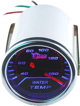 Supmico 52mm Weiß Led Licht Kfz Auto Universal Kühlwasser Wasser Tempratur Anzeige Instrument Gauge Rauchfarbe Len Messgerät Auto