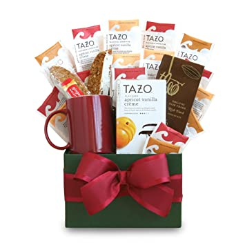 Image Unavailable. Image not available for. Color: California Delicious Tazo Tea Temptations Gift Basket