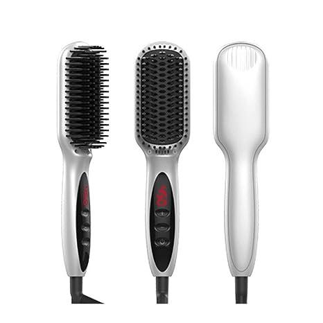 Cepillo Alisador Electrico de Raddrizzatore per capelli dritti in ceramica a ioni negativi, pettine interno
