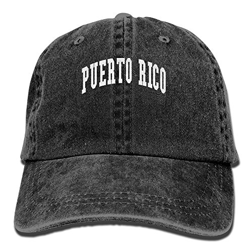 Jshajshk Unisex Puerto Rico Pride Lovely Cap Puerto Rico Pride Cool Hats Hunting Hat Black (Puerto Hunting Rico)