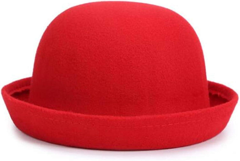bredLily Retail Little Girls Fedora hat Dome Cap Children Dress Hats Kids caps Felt Hats Wool Felting Bowler hat