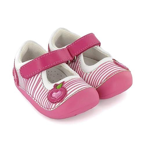 60e29bc52e2 Zapato preandante de niña en Piel Fucsia Lea Lelo: Amazon.es: Zapatos y  complementos