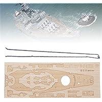 Wooden Deck with Anchor Chain for Tamiya 78029 1:350 USS Battleship BB-63 Model