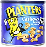 Planters Cashew Halves and Pieces made with Pure Sea Salt, 46 Ounce Tin