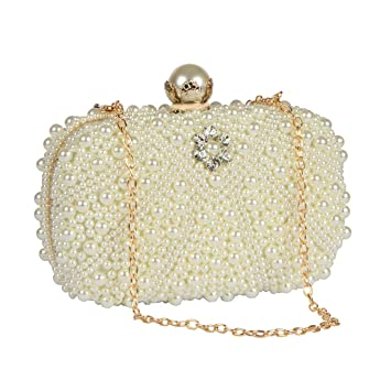 032f2a6a14 Buy STRIPES Luxury Evening Crystal and Pearl Party Wear Bridal Clutch Bag  Online at Low Prices in India - Amazon.in