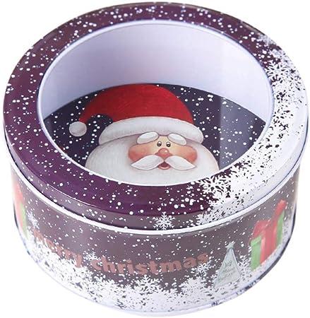 Amosfun No/ël m/étal bo/îtes darbre de No/ël Forme Bonbon bo/îte Cadeau bo/îte de Cadeau pour no/ël Vacances Parti Fournitures th/é Bougies Cookie Cadeau Cas