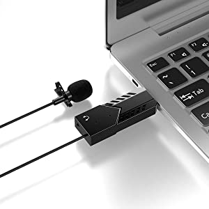 USB Microphone,Dseven Lavalier Mic Lapel Clip on Microphone for Computer PC, Laptop, Mac,MacBook,PS4. Perfect for Video Yutube Recording,Interviews,Skype,Vlogging,Podcast
