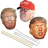 President Donald Trump Celebrity Politician Face Mask Set; Includes all 3 masks