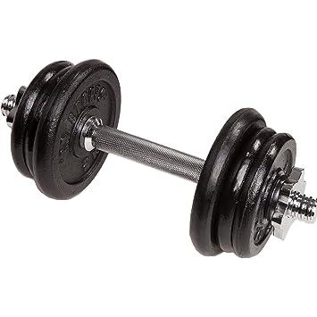 C. P. Sports – mancuernas de hierro fundido y plástico (10 kg, 15 kg, 20 kg, 30 kg), 1 x 10kg Guss: Amazon.es: Deportes y aire libre
