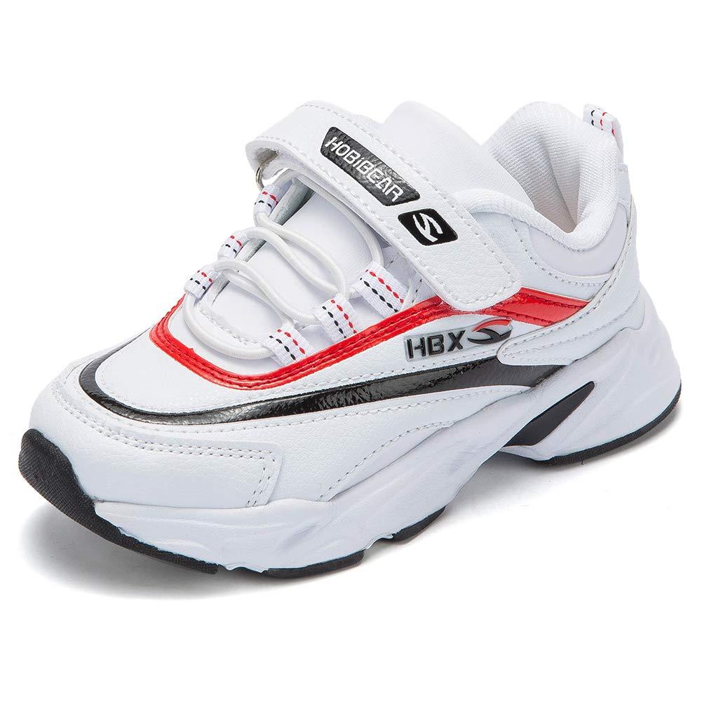 KIIU Kids Running Shoes Waterproof Athletic Sneaker for Boys Sport Hiking Shoes (White 1.5, Little Kid)