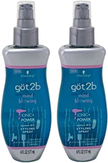 product image for Got2b Mind Blowing - Ionic Power Xpress Dry Styling Spray - Net Wt. 6 FL OZ (177 mL) Each - Pack of 2