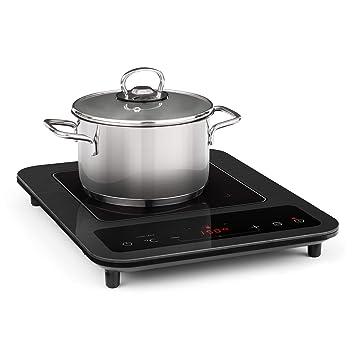 Klarstein SlimChef placa de cocina • Cocina de inducción • 1800 W • 10 niveles de potencia y de temperatura • Pantalla LED • Autoapagado • ...