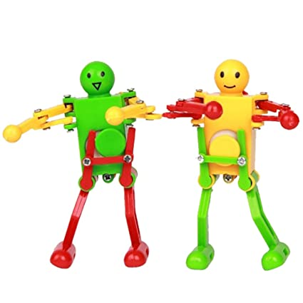 Provided New Classic Wind Up Toys Children Kids Plastic Clockwork Plastic Clockwork Spring Wind-up Dancing Robot Toy Gifts Random Color Toys & Hobbies
