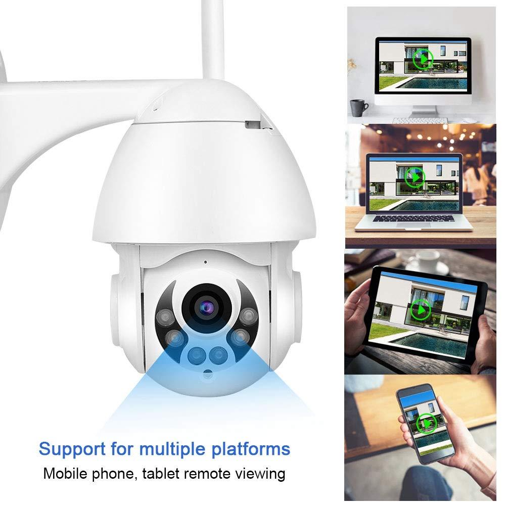 BTIHCEUOT C/ámara Domo de Seguridad WiFi 1080P IP IR Intercomunicador Exterior 4X C/ámara Digital Domo de Seguridad con Zoom Enchufe de la UE