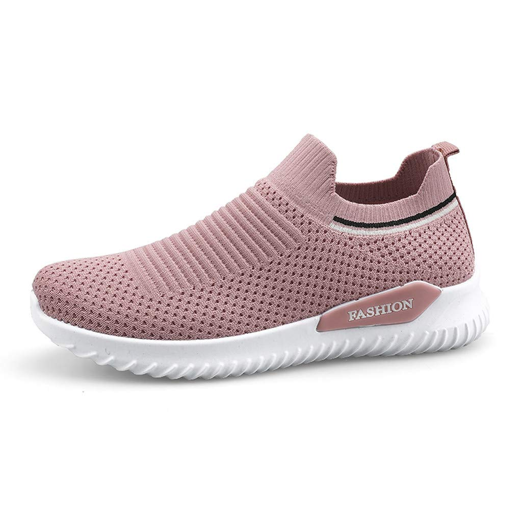 Sport Baseball Shoes Outdoor Sneakers for Women, Huazi2 Gym Athletic Trail Workout Breathable Mesh Running Shoes Pink by Huazi2_Women's Shoes