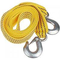 Tinksky 3 metros 3 toneladas de corda de tração de reboque para carro com ganchos de ferro – cor aleatória