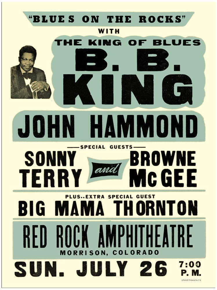 LORENZO B.B King John Hammond Blues ON The Rocks Vintage ...