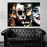 Poster Mural Comic 4 Generatioin Joker Pop Art Movie Batman 35x47 inch (90x120 cm) Canvas