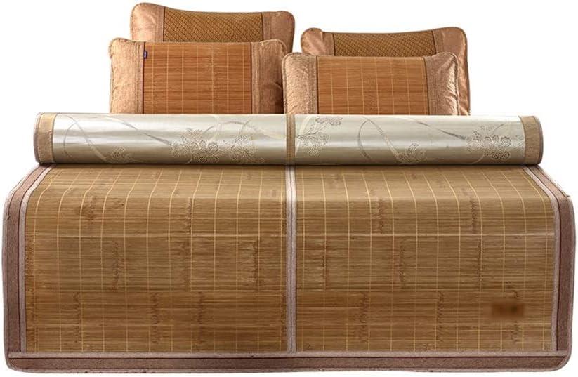 Wei Zhe 夏の眠りマット、夏のマット、吸湿1.5 mシングル(1〜2人)クール竹の睡眠マット、エアコンの睡眠マット、夏の寝具、折りたたみ収納 夏用スリーピングマット
