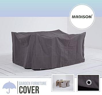 Madison Atmungsaktive Und Wasserabweisende Schutzhülle In Anthrazit Für  Gartenmöbel Oder Lounge Möbel, 225 X 140