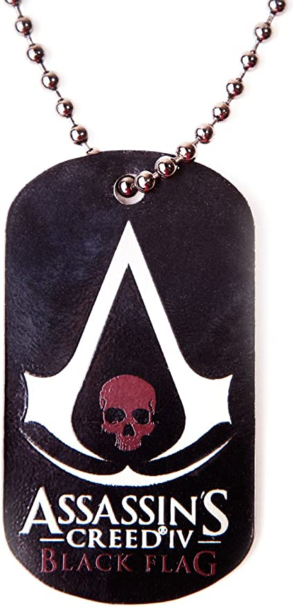 Amazon Com Bioworld Assassin S Creed Iv 4 Black Flag Logo Dog Tag