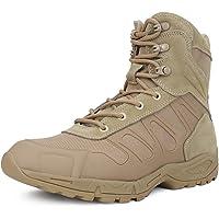 Qunlon Botas tácticas Militares de Hombre Ultraligero, Tan Botas Jungle Combat, Zapatos de Trabajo y Seguridad Botas…