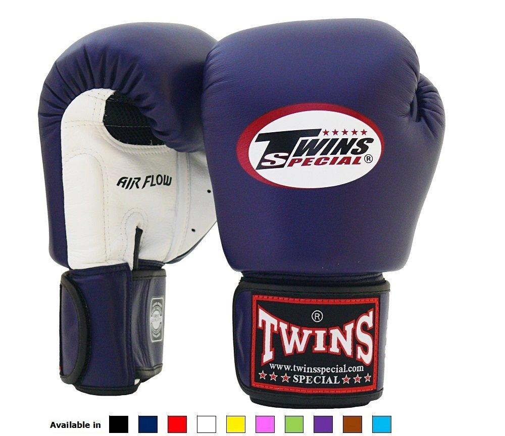 Guantes de boxeo con cierre de velcro, piel auténtica Twins Special