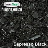 GROUNDSMART LTGEBMN5TS Rubber Mulch, Large, Espresso Black