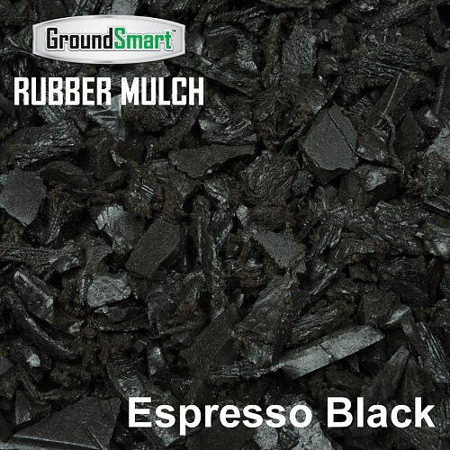 GROUNDSMART LTGEBMN5TS Rubber Mulch, Large, Espresso Black