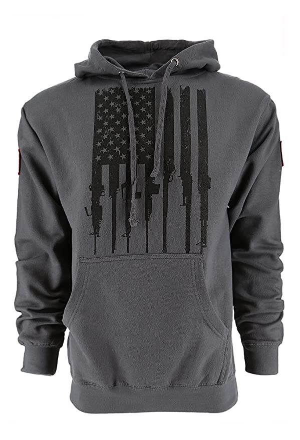 6ba9e2c9 Amazon.com: Grunt Style Rifle Flag Men's Hoodie: Clothing