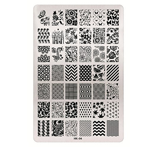Diy Manicure Template Mosunx Tm Nail Art Image Stamp Stamping Plates D Buy Online In Uae