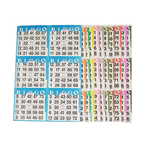American Games Bingo Paper Game Cards – 6 Card – 10 Bingo Sheets – 100 Books – 10 Colors, Made in USA by American Games
