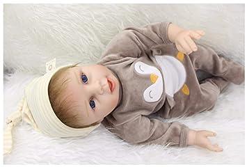 Amazon.es: ZELY Realista Baby Dolls 22 Pulgadas 55cm bebé Reborn ...