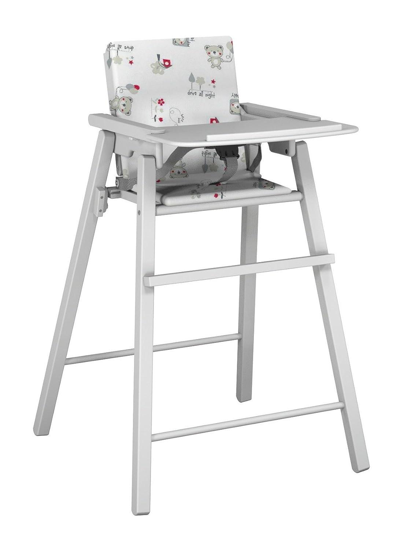 Ateliers T4 Chaise Haute Pliante avec Coussin Laqué Blanc/Châtaigne 20058000 01