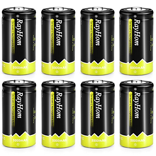 RayHom Rechargeable Battery 5000mAh Ni MH High Capacity Battery Pack