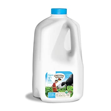 Organic Valley, Organic 1% Low Fat Milk, Pasteurized, Gallon, 128 oz