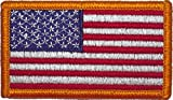 Official US Military Red/White/Blue US Flag Patch with Hook Back (1 7/8'' x 3 3/8'')