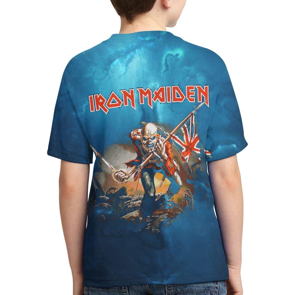 Caiyuzhuanmai Boys,Girls,Youth Iron Maiden T-Shirt