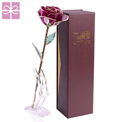 gifts for her birthday wedding anniversary 24k gold coated rose preserved forever by jttvo