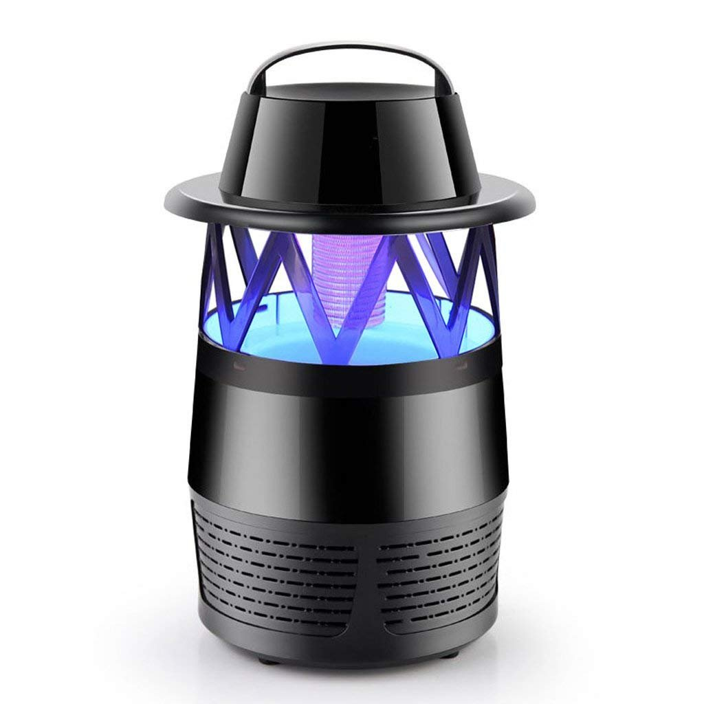 HLL Drm Lighting Mosquito Lamp Killer/Bug Zapper,Photocatalyst Mosquito Lamp Home Without Radiation Mute Electronic Insect Repellent Pregnant Women Infant Mosquito (Black)