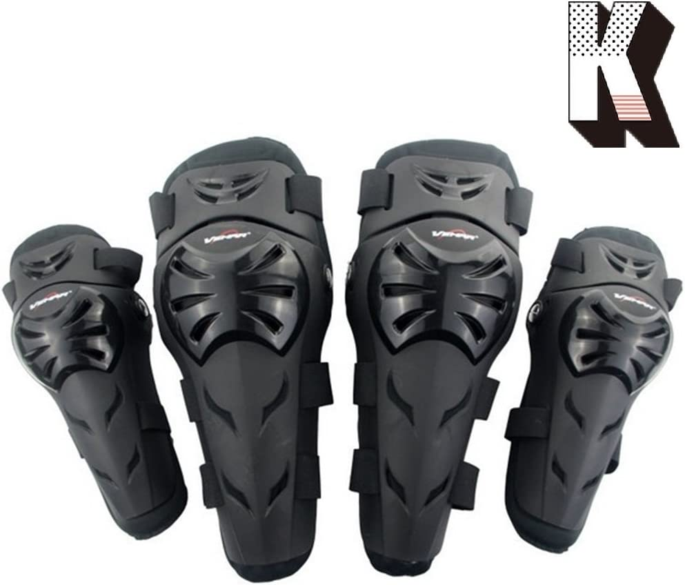 Gaetooely 4Pcs Motorcycle Knee Pads Support Knee Pads Safety Protective Gear Universal Motocross Cycling Elbow Protector