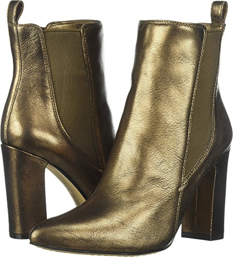 Vince Camuto Women's Britsy Ankle Boot, Bronze, 7.5 Medium US Bronze Ankle Boot