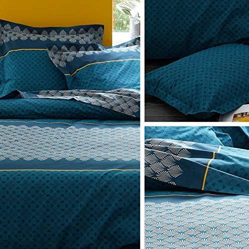 Linnea Housse de Couette 240x220 cm 100% Coton Talisman Bleu Paon