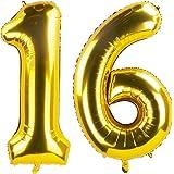 Amazon.com: Globos de 16 números para decoración de fiesta ...