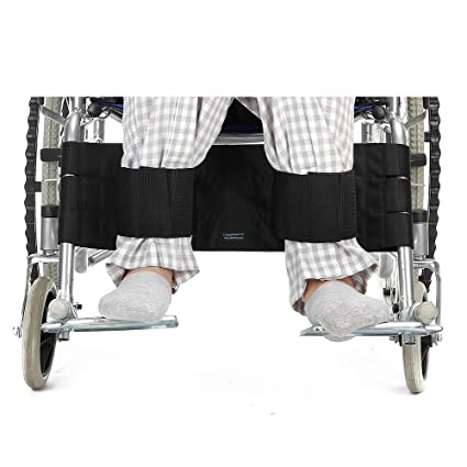 NEPPT Cinturón de seguridad ajustable para silla de ruedas, reposapiés, correa de pierna para