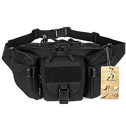 9f779ee42255 CREATOR Tactical Waist Pack Portable Fanny Pack Outdoor Hiking Travel Large  Army Waist Bag Military Waist