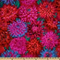 Kaffe Fassett Collective 2012 Cactus Dahlias Red Fabric By The Yard