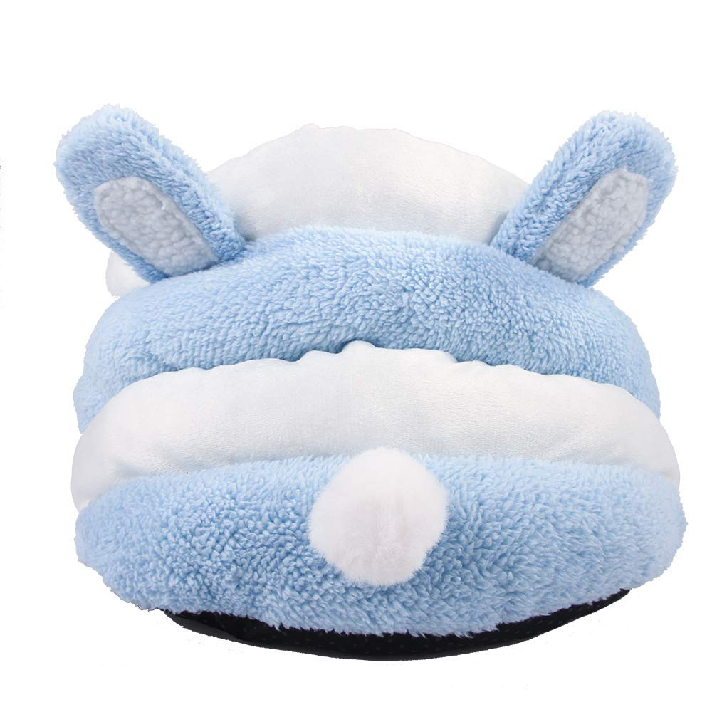 bluee L bluee L Cat Nest, Small and Medium Pets Nest Warm Closed Cat House Kennel Winter (color   bluee, Size   L)