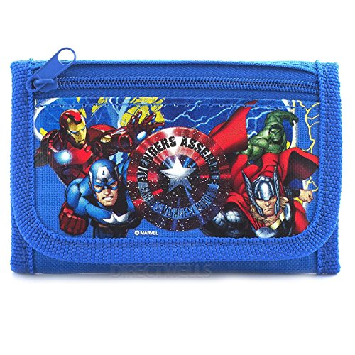 Marvel AvengersTrifold Wallet Stocking Stuffers for Little Boys.